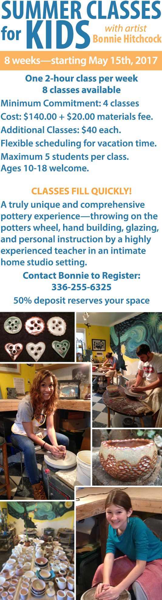 Summer Classes for Kids with artist Bonnie Hitchcock