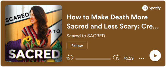 Image link to Scared to Sacred Podcast